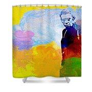 Steve Mcqueen Shower Curtain by Naxart Studio