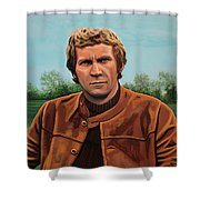 Steve Mcqueen Painting Shower Curtain