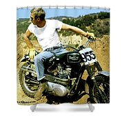 Steve Mcqueen, Triumph Motorcycle, On Any Sunday Shower Curtain