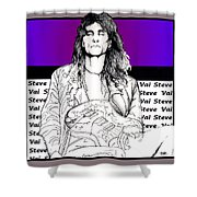 Steve Vai Sitting Shower Curtain