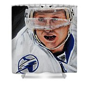Steven Stamkos Shower Curtain by Marlon Huynh