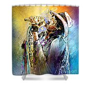Steven Tyler 01  Aerosmith Shower Curtain