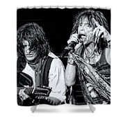 Steven Tyler Croons Shower Curtain by Traci Cottingham