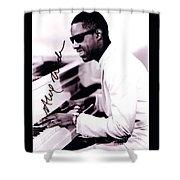 Stevie Wonder Autographed Shower Curtain
