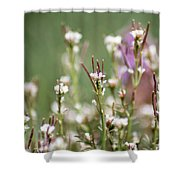 Stick Flower Shower Curtain