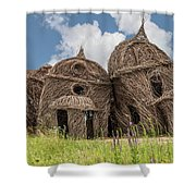 Lean On Me - Stick House Series #2 Shower Curtain