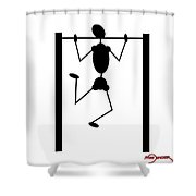Stickman Pull Up Shower Curtain