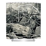 Sticks And Stones 2782 Shower Curtain