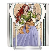 Still Dreaming Shower Curtain by Brandy Woods