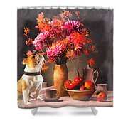 Still - Floral And Fruit Shower Curtain