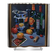 still life 2, Wine your style Shower Curtain