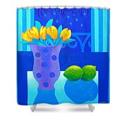 Still Life At Window IIi Shower Curtain