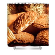 Still Life Bakery Art. Shortbread Cookies Shower Curtain