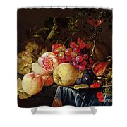 Still Life Shower Curtain by Cornelis de Heem
