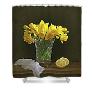 Still Life Daffodils Shower Curtain