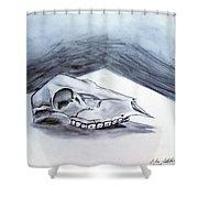 Still Life Drawing Cow Skull 02 Shower Curtain