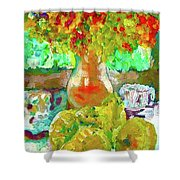 Still Life Flower Shower Curtain