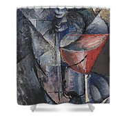Still Life  Glass And Siphon Shower Curtain