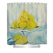 Still Life - Lemons Shower Curtain