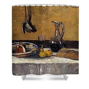 Still Life Nature Morte Shower Curtain