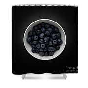 Still Life Of A Bowl Of Blueberries. Shower Curtain