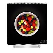 Still Life Of A Bowl Of Fresh Fruit Salad. Shower Curtain