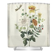 Still Life Of Flowers, Machtelt Moninckx, C. 1600 - C. 1687 Shower Curtain