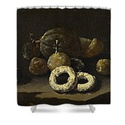 Still Life Of Sugared Fruits Shower Curtain
