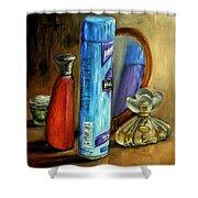 Still Life Oil Painting Shower Curtain