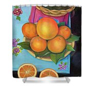 Still Life Oranges And Grapefruit Shower Curtain