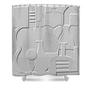 Still Life Paper Relief Shower Curtain