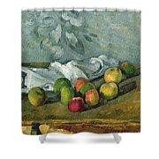 Still Life Shower Curtain by Paul Cezanne