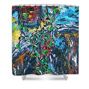 Abstract Still Life Shower Curtain
