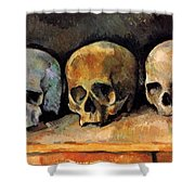 Still Life, Three Skulls Shower Curtain