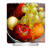 Still Life Tiles Shower Curtain