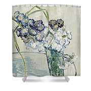 Still Life, Vase Of Carnations Shower Curtain