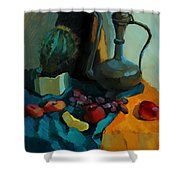 Still Life With A Cactus Shower Curtain