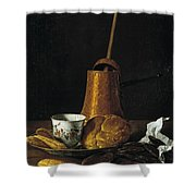 Still Life With A Chocolate Service Shower Curtain