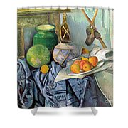 Still Life With A Ginger Jar And Eggplants Shower Curtain