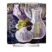 Still Life With A Yellow Flower Shower Curtain