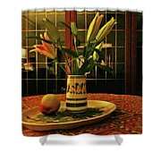 Still Life With Apple Shower Curtain