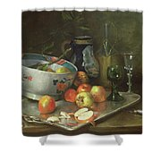Still Life With Apples Shower Curtain