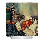 Still Life With Apples Shower Curtain by Paul Cezanne