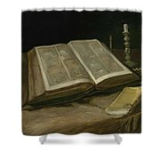 Still Life With Bible Nuenen, October 1885 Vincent Van Gogh 1853  1890 Shower Curtain