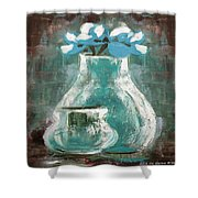 Still Life With Blue Flowers Shower Curtain