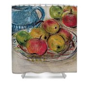 Still Life With Blue Teapot 2 Shower Curtain