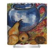 Still Life With Blue Teapot One Shower Curtain