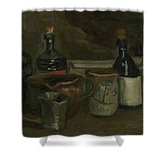 Still Life With Bottles And Earthenware Nuenen, November 1884 - April 1885 Vincent Van Gogh 1853  Shower Curtain