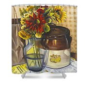 Still Life With Brown Paper Sack Shower Curtain