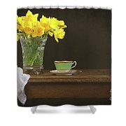 Still Life With Daffodils Shower Curtain